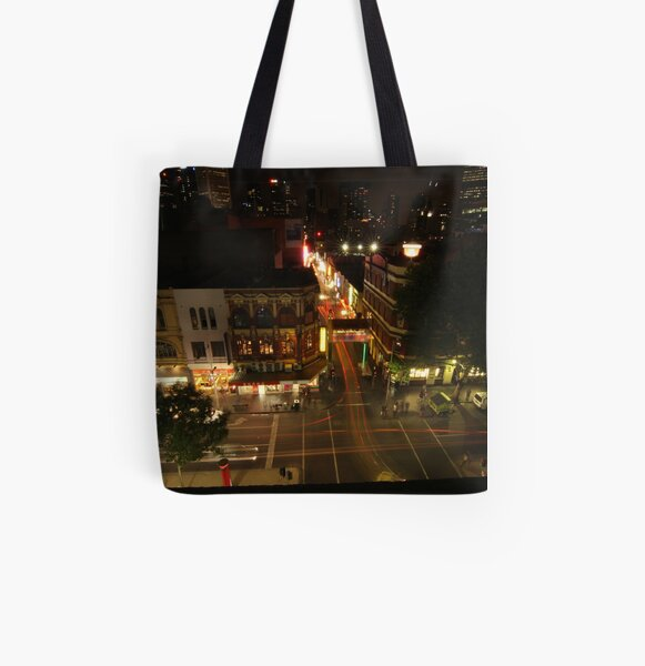 Lightpaint Chinatown All Over Print Tote Bag