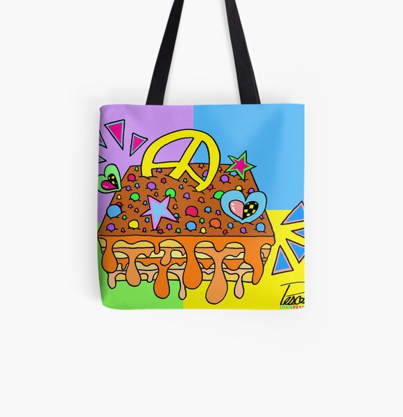 Turrón Peruano - Surreal Pop Peace [1] All Over Print Tote Bag