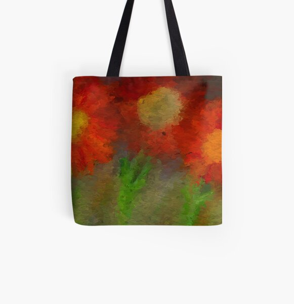 Sunflowers All Over Print Tote Bag