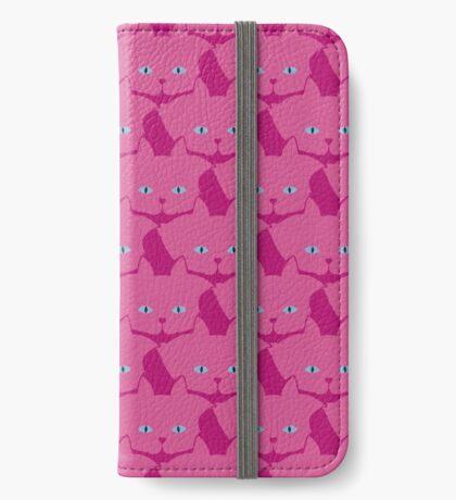 Pink Cat Cattern [Cat Pattern] iPhone Wallet