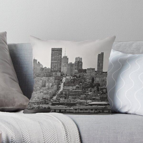 Hills of San Francisco - California, USA Throw Pillow