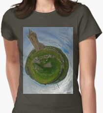 Glencolmcille Church - Sky Out Women's Fitted T-Shirt