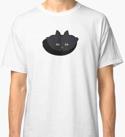 Pink Heart-Nose Solid Black Cat Cattern [Cat Pattern] Classic T-Shirt