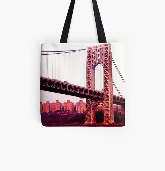 George Washington Bridge All Over Print Tote Bag