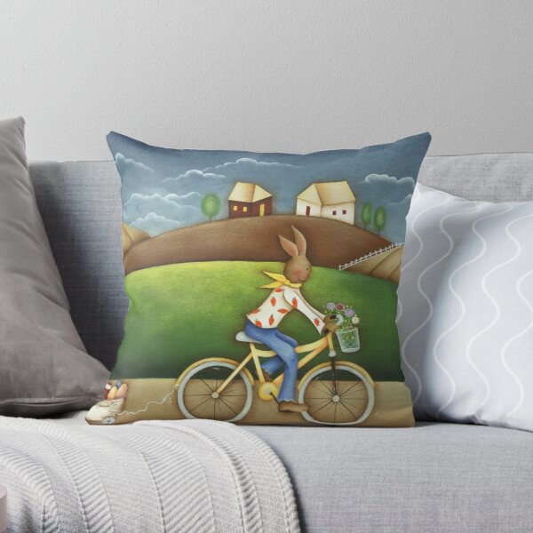 Easter Deliveries Throw Pillow