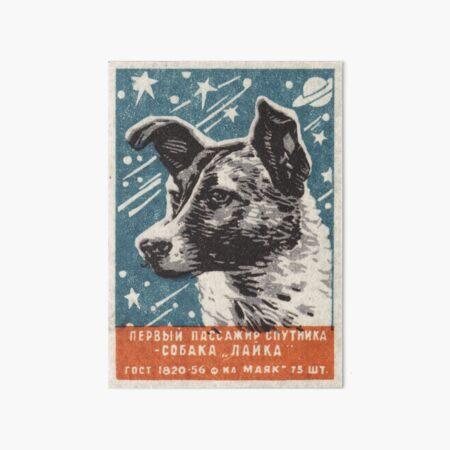 Laika the dog - Soviet Space Art, USSR Matchbox Design, 1957 Art Board Print