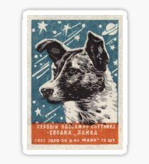 Laika der Hund - Sowjetische Raumkunst, UdSSR Matchbox Design, 1957 Sticker
