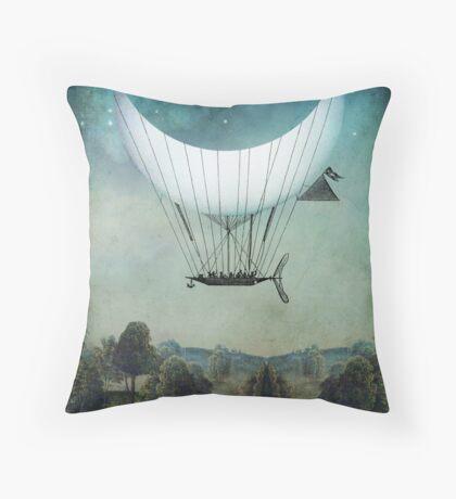 The Moon Ship Throw Pillow