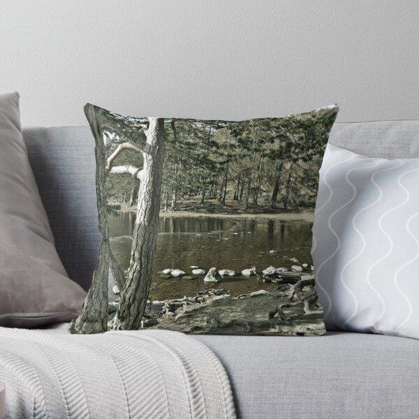 Loch an Eillen Aviemore Throw Pillow