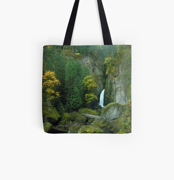 Wahclella Falls 3050_102706 All Over Print Tote Bag