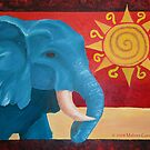 Elephant in the Sun by Malinee Ganahl