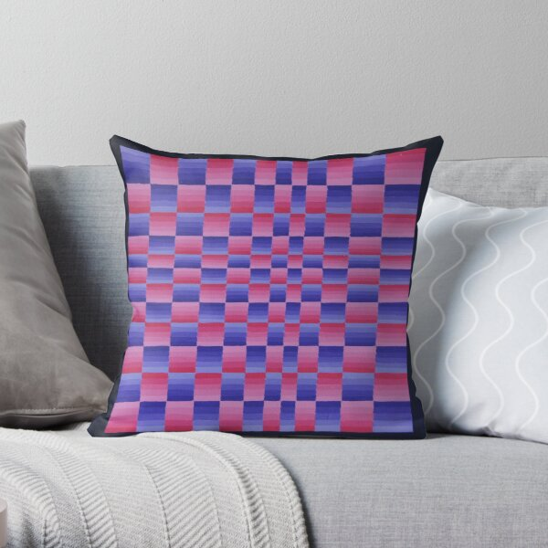 Vague Blur (Violet / Red) Throw Pillow