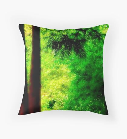 Trees and light Throw Pillow
