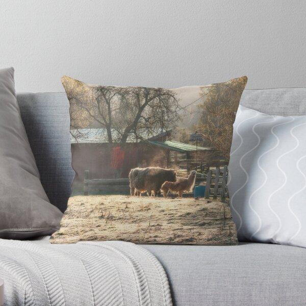 Morning Farmyard 2 Throw Pillow