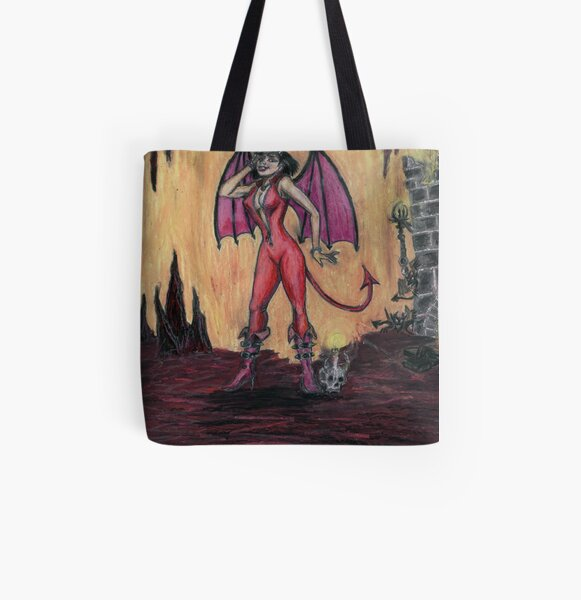 Aosoth - Sexy Devil Girl All Over Print Tote Bag