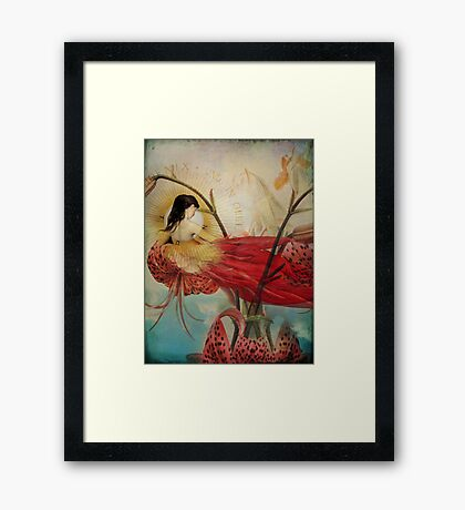 Lilies Wish Framed Print