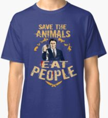 save the animals, EAT PEOPLE (6) Classic T-Shirt
