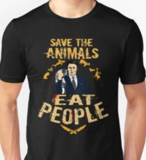 save the animals, EAT PEOPLE (6) Unisex T-Shirt