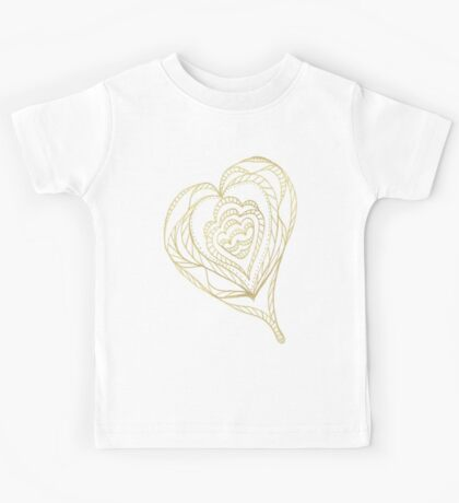 Gold Heart Kids Clothes