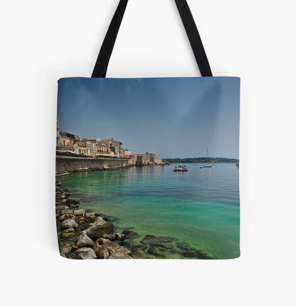 Il lungomare di Ortigia All Over Print Tote Bag