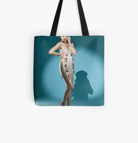 Spotlights, Satin and Lace All Over Print Tote Bag
