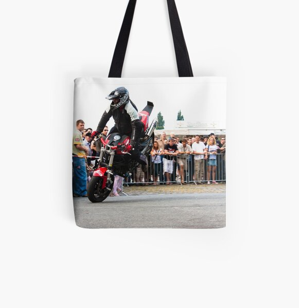 motorcycle stunt 005 All Over Print Tote Bag