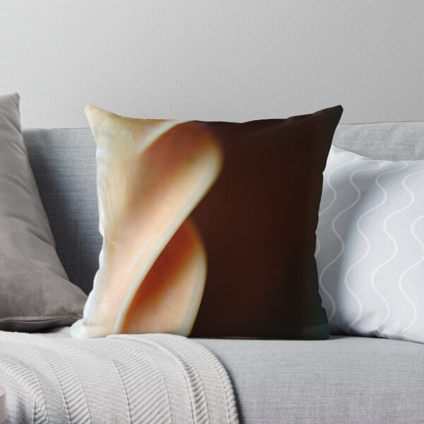 Fluted Column of Pearl Throw Pillow