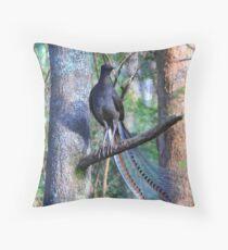 Superb Lyrebird. Throw Pillow