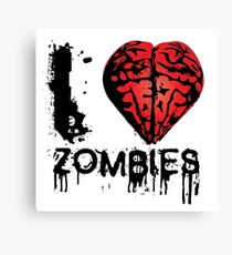 I heart Zombies Canvas Print