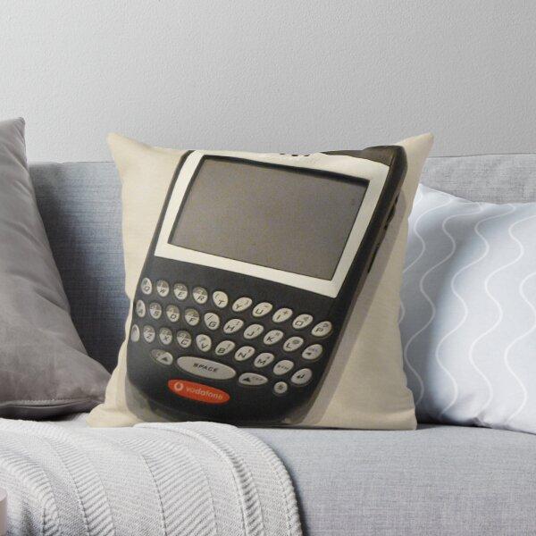 First Blackberry Mobile Throw Pillow