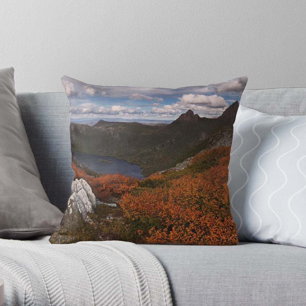 Carpet of Fagus - Plateau Creek Cradle Mountain Throw Pillow