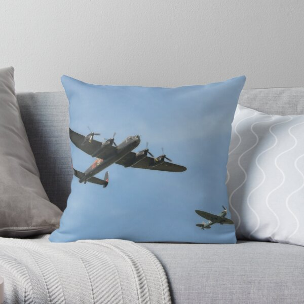 Fighter Escort Throw Pillow