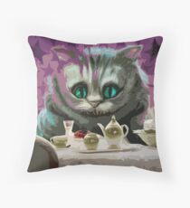 Alice in Wonderland Cheshire Cat Multi-Layer Stencil Vector Kissen