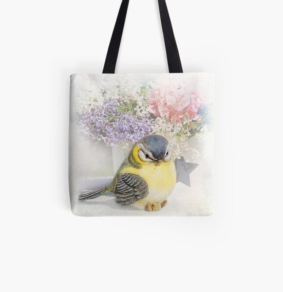 Happy bird All Over Print Tote Bag