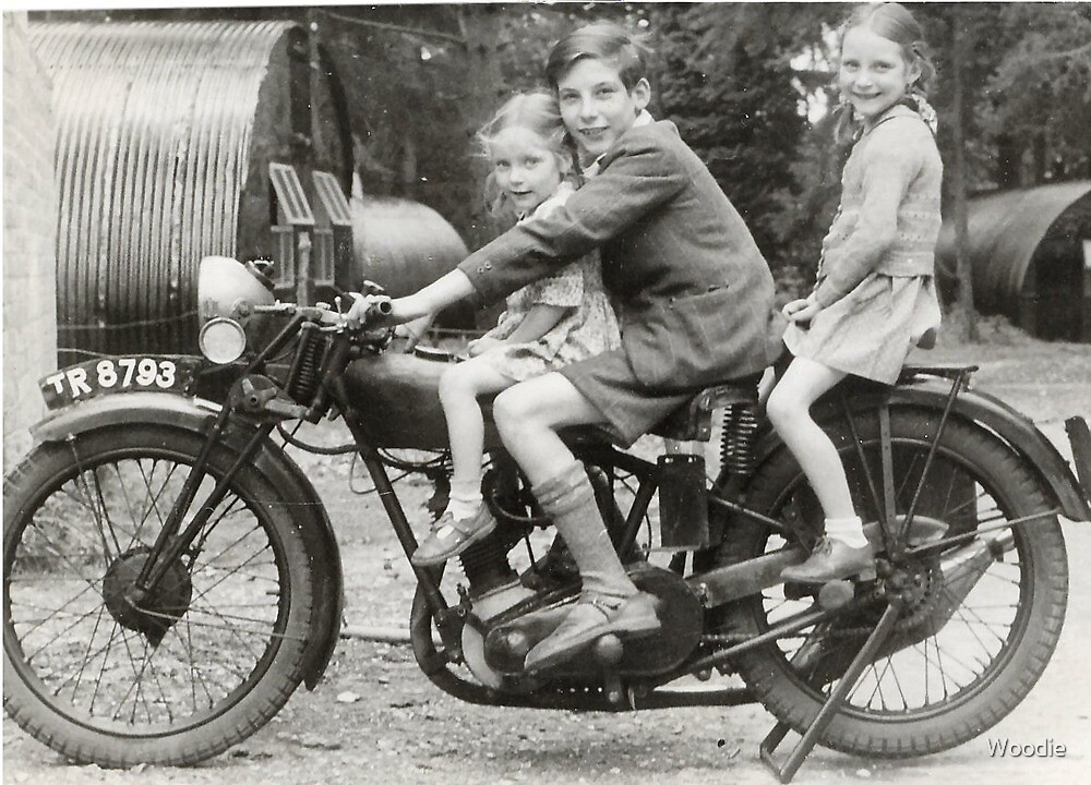 Me and my two sisters 1948 by Woodie