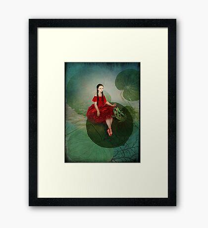 Thumbelina (Däumelinchen) Framed Print