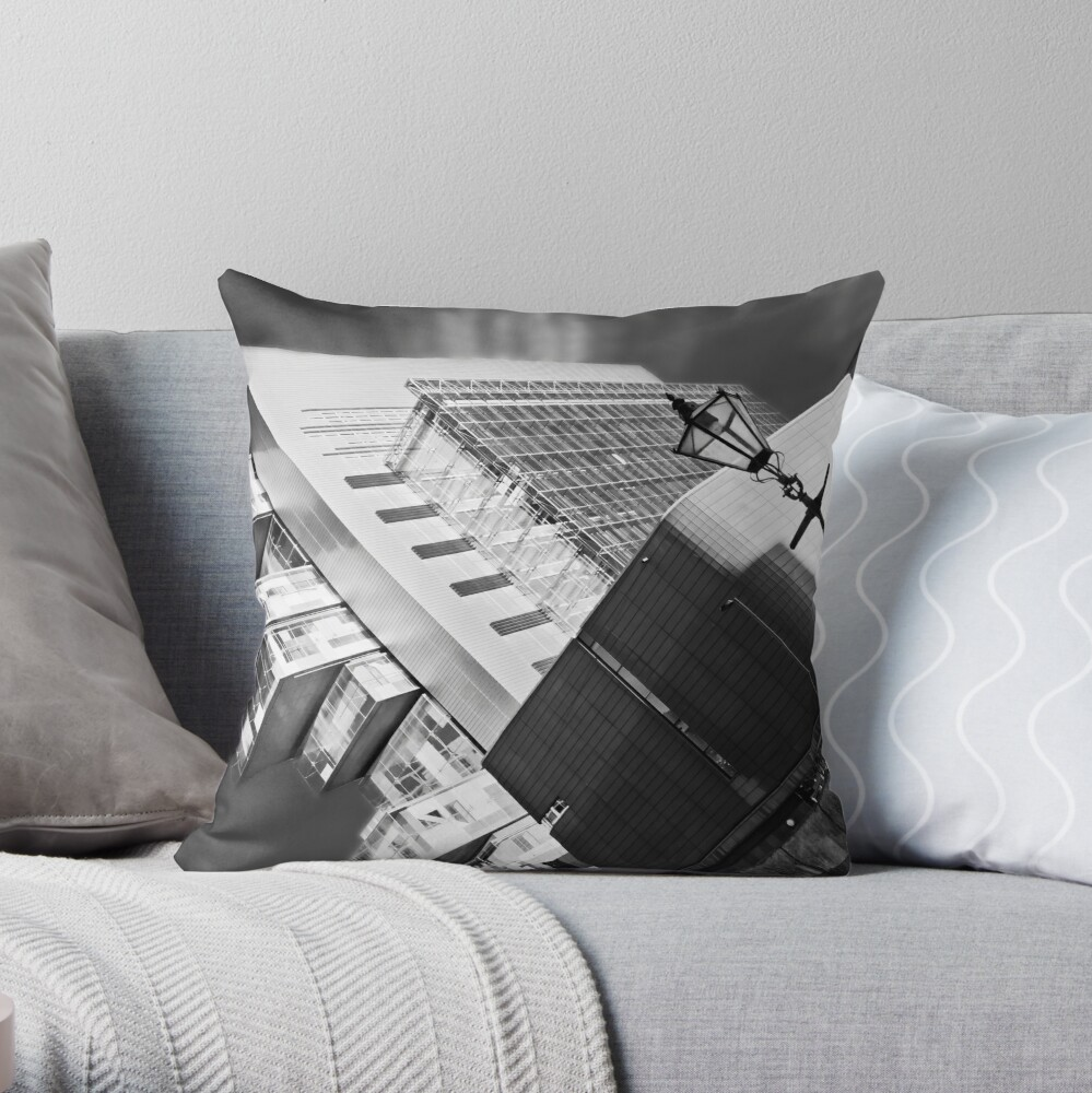 Manchester's civil justice law courts. (B&W) Throw Pillow