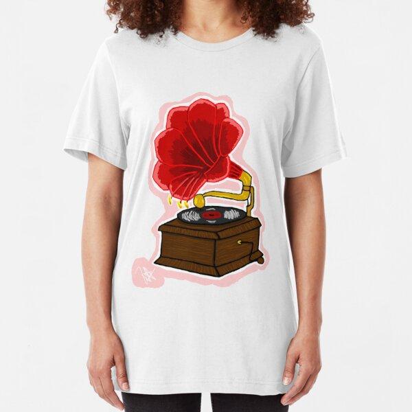 Amaryllis Gramophone Slim Fit T-Shirt