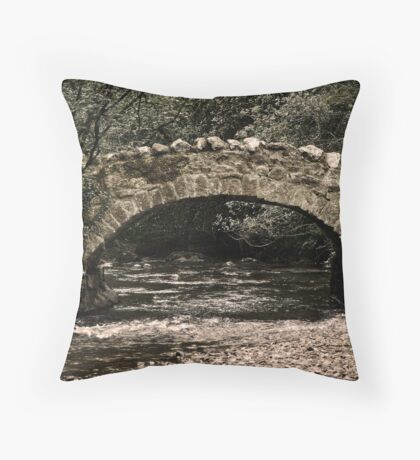 Teign Bridge Throw Pillow