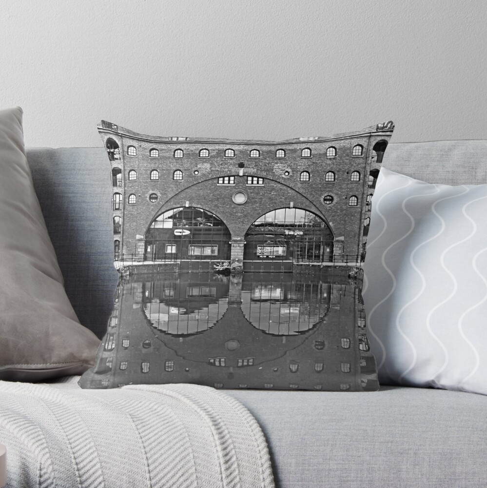 Manchester's Industrial Architecture  Throw Pillow