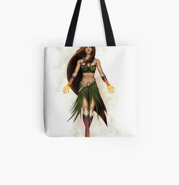 Hawaiian Goddess All Over Print Tote Bag