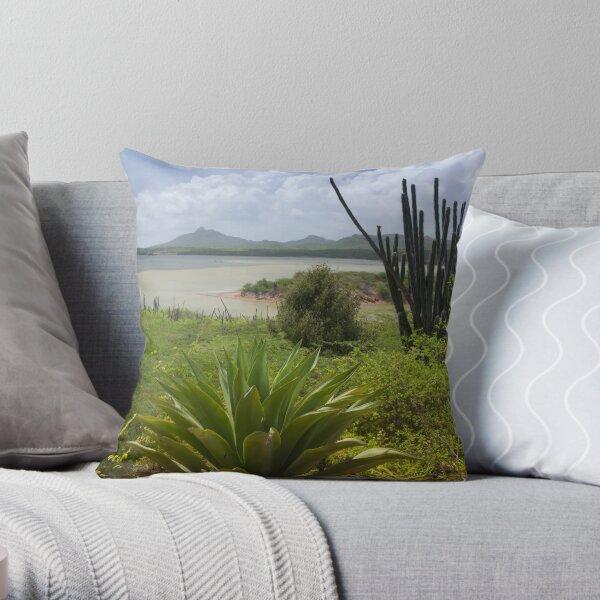 Goto Lake in Bonaire Throw Pillow