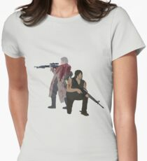 Carol Peletier and Daryl Dixon (Version 1) - The Walking Dead  Women's Fitted T-Shirt