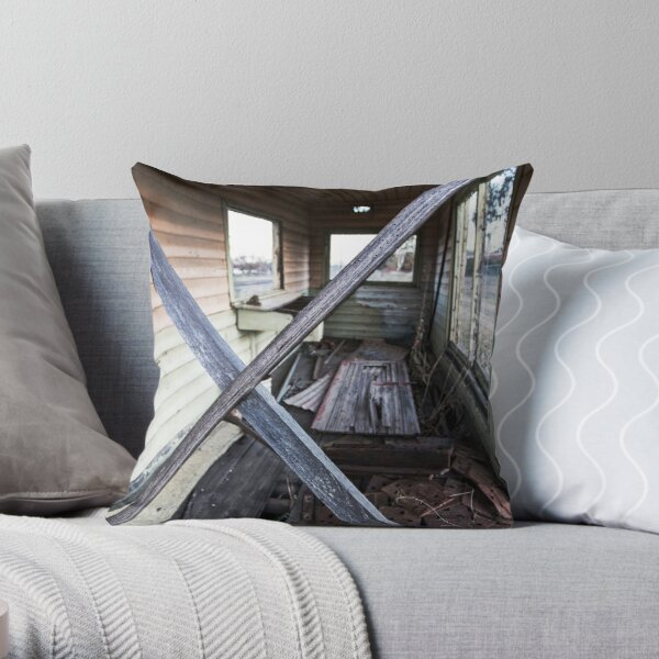 ex signal box Throw Pillow