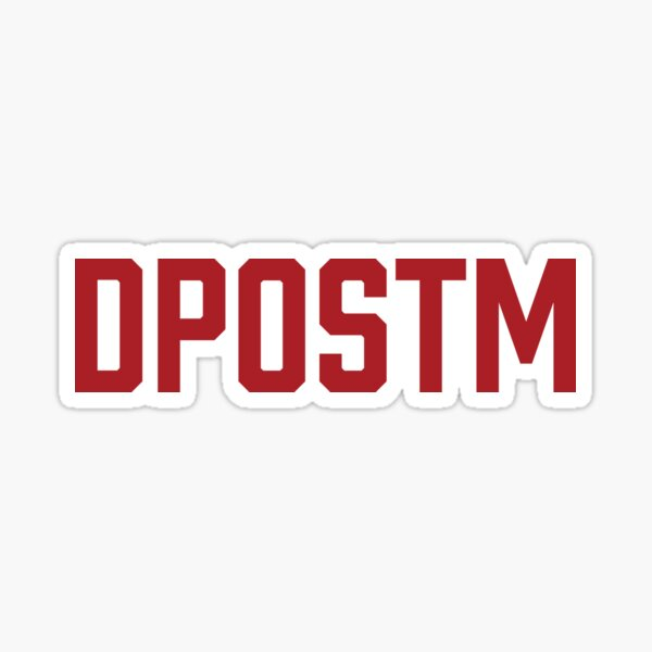 DPOSTM Red Logo Sticker