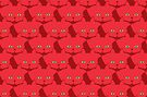 Solid Red Cat Cattern [Cat Pattern] by Brent Pruitt