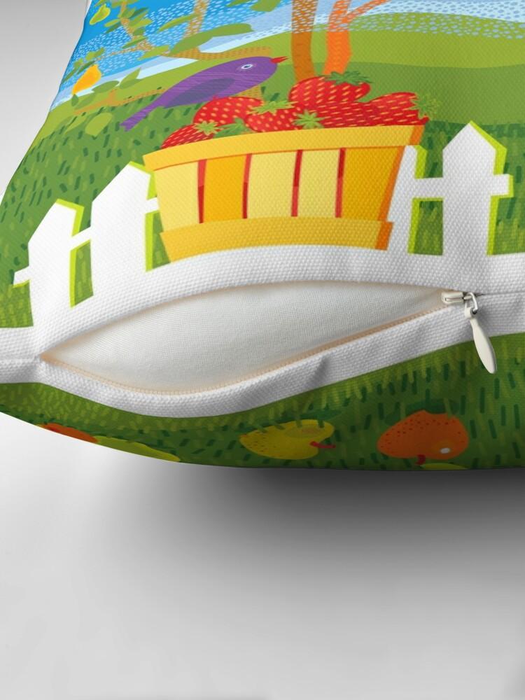 Alternate view of Summer Farm Throw Pillow