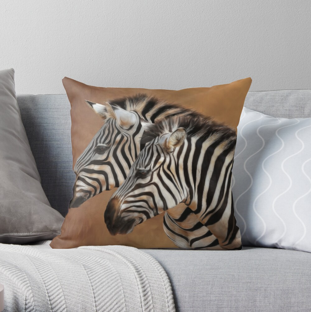 Savana Stripes Throw Pillow