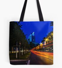 blue hour at friedrichswall (1) Tote Bag