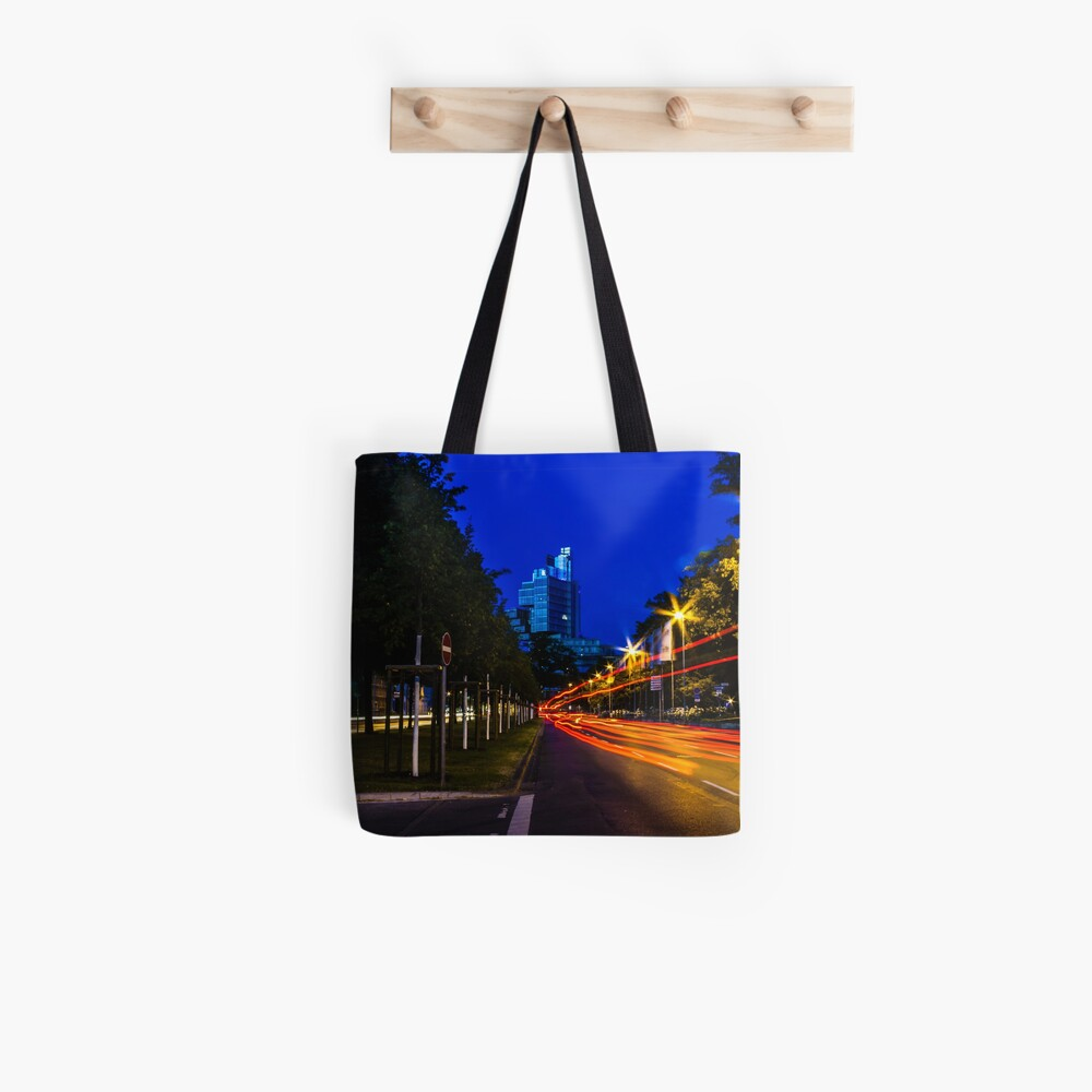 blue hour at friedrichswall (1) Tote Bag